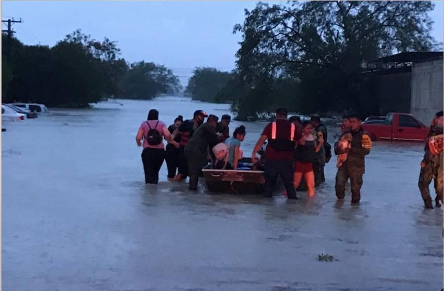 """Alertan posible desbordamiento del río Bravo por lluvias de """"Hanna"""""""