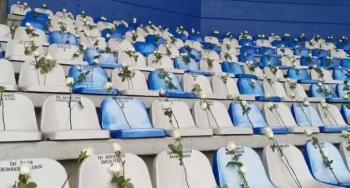 Pachuca llena de rosas su estadio en honor a médicos que combaten al Covid-19