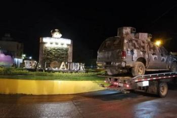 Tras enfrentamiento de sicarios recuperan camioneta del CJNG