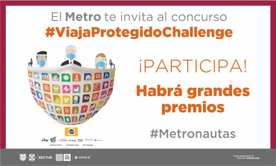 Con #ViajaProtegidoChallenge el Metro impulsa el uso adecuado del cubrebocas