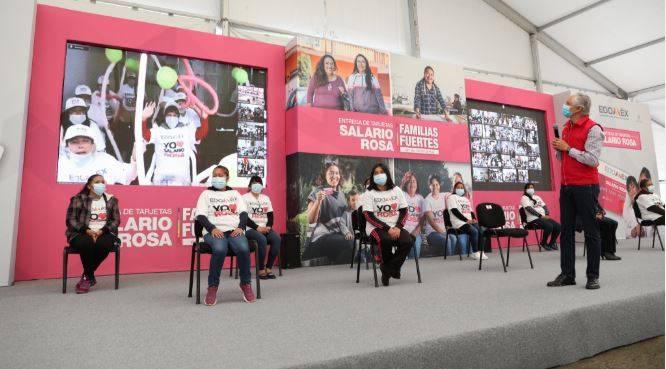 Más de 270 mil mujeres reciben Salario Rosa en apoyo a la economía familiar: Alfredo Del Mazo