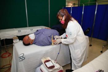 Organizan campaña de donación itinerante de sangre