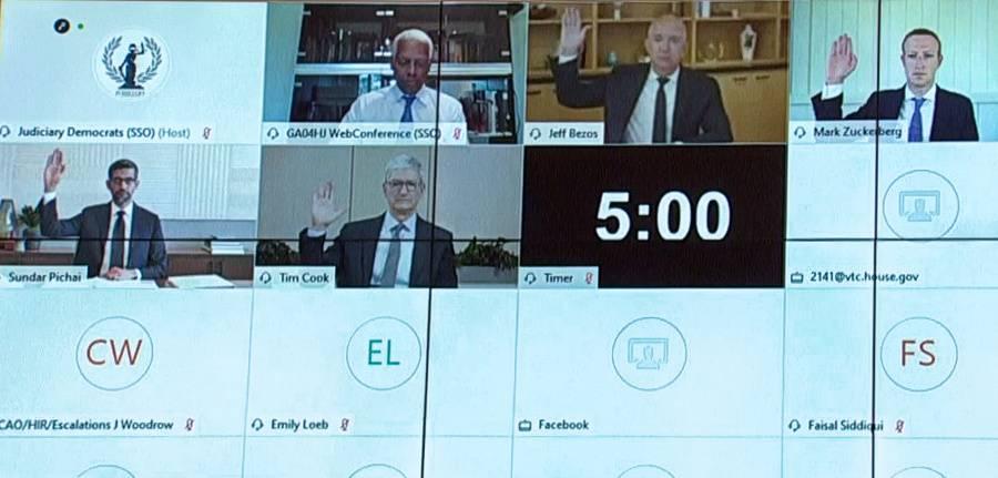 Legisladores de EU, cuestionan en audiencia poder de empresas tecnológicas