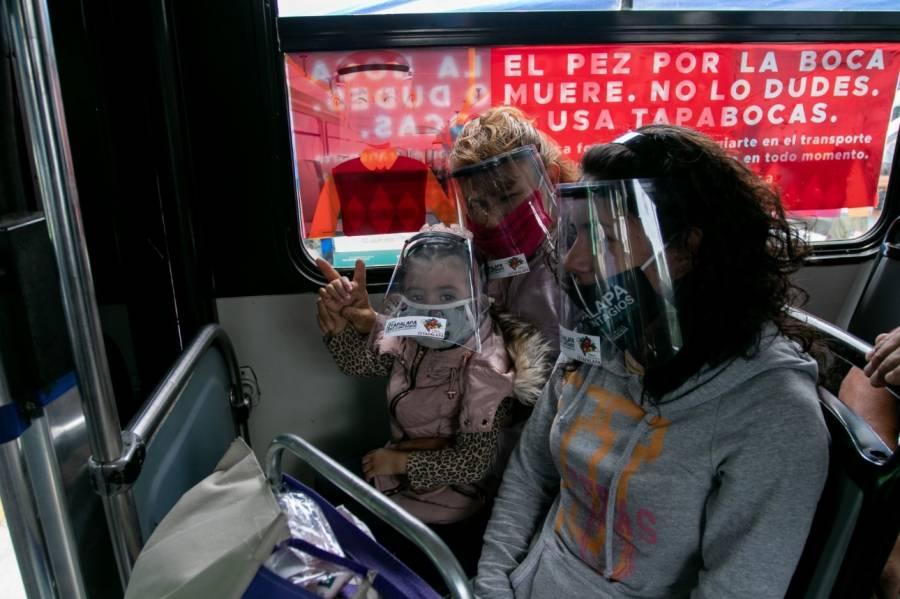 Alcaldía Iztapalapa pide a usuarios y operadores usar caretas en transporte público