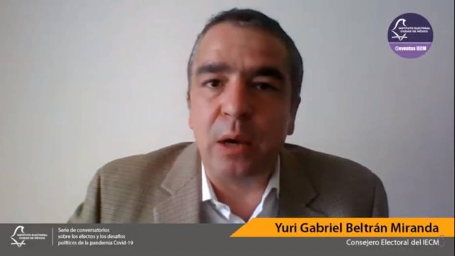 Por pandemia, observación electoral debe mantenerse como ojo ciudadano: Yuri Beltrán Miranda