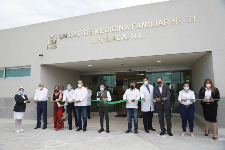 IMSS y gobierno de Nuevo León inauguran UMF No.71 en Apodaca