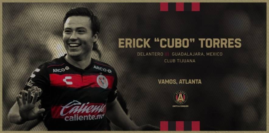 """""""Cubo"""" Torres, nuevo jugador del Atlanta United"""