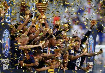 PSG gana la Copa de la Liga al Lyon y logra el póker de títulos