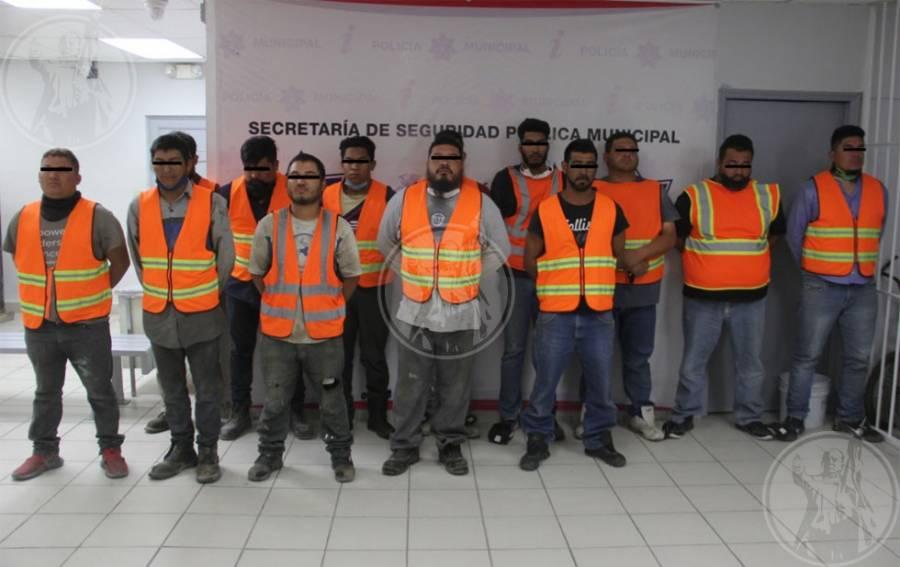 Detienen a 13 personas que robaron negocio en Ciudad Juárez