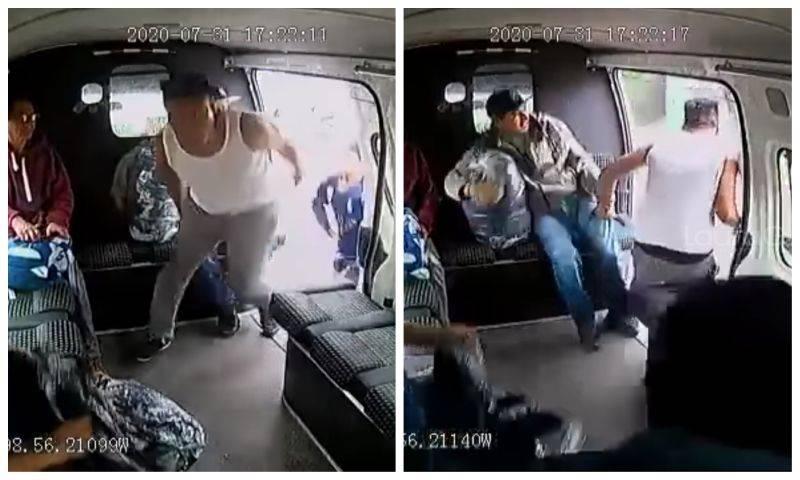 Video: Al ritmo de 'Los Ángeles Azules', crean cumbia del asaltante de la combi