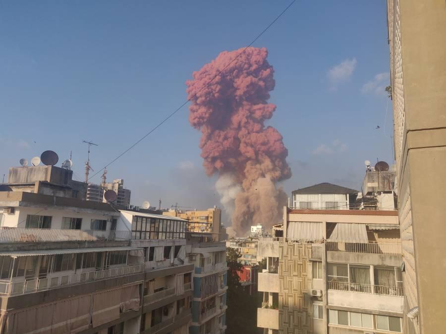 Beirut clasificada como zona de desastre por fuertes explosiones