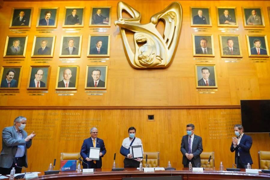IMSS firma acuerdo para recibir medicamentos con OPS