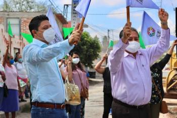 Ayuntamiento de Soledad inicia pavimentación de Av. México en Rancho Nuevo