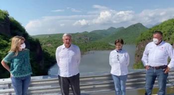 AMLO inaugura la presa Pilares en Sinaloa