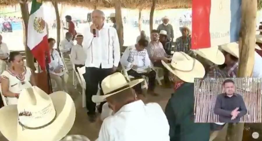 AMLO ofrece a pueblos Yaquis indemnización