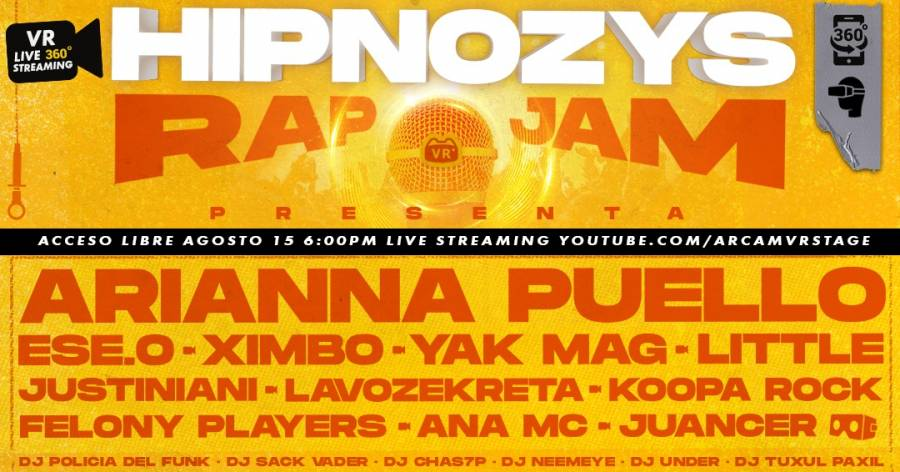 HIPNOZYS RAP VR JAM, primer festival virtual de rap y hip hop en México