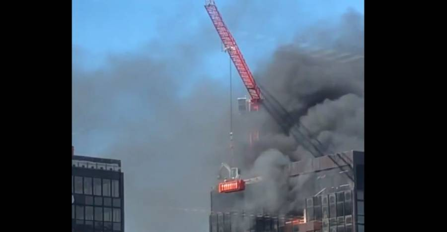 Reportan incendio en una torre del World Trade Center de Bruselas