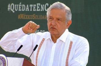 """Informe presidencial al pueblo, con """"Sana Distancia"""" en Palacio Nacional"""