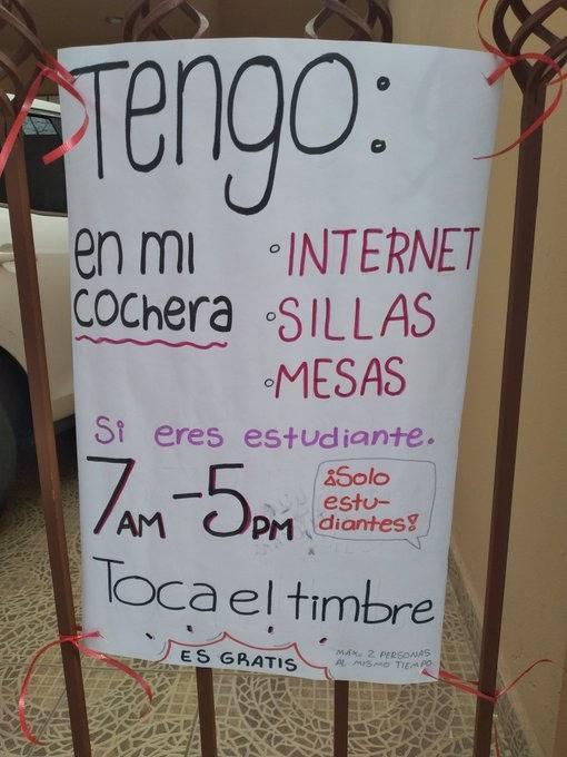 Madre de familia ofrece Internet a alumnos sin conexión