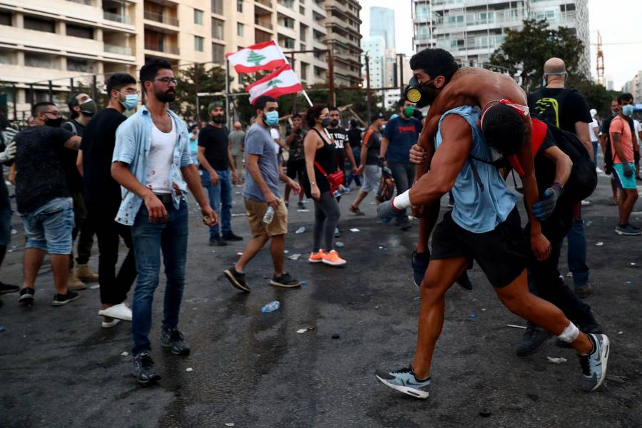 Más de 130 heridos dejan protestas en Beirut