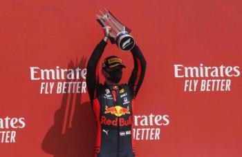 Max Verstappen se corona en el GP 70 Aniversario de Reino Unido