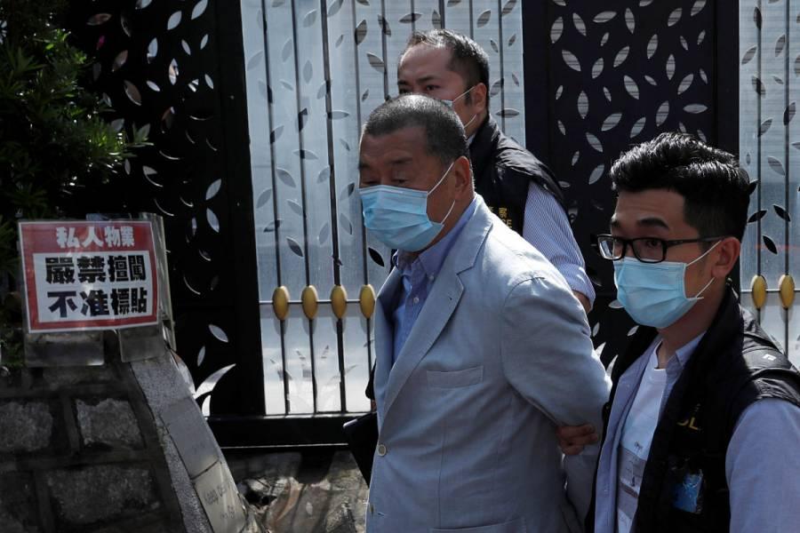 Arrestan al magnate de la prensa Jimmy Lai en Hong Kong