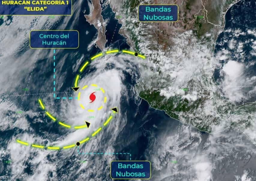 """Elida"" se convierte en huracán en Baja California Sur"