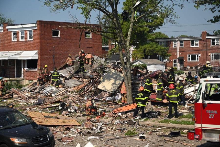 Video: Destruye tres edificios fuerte explosión en Baltimore