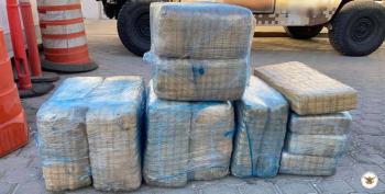 Guardia Nacional asegura en carreteras de BC 600 litros de metanfetamina