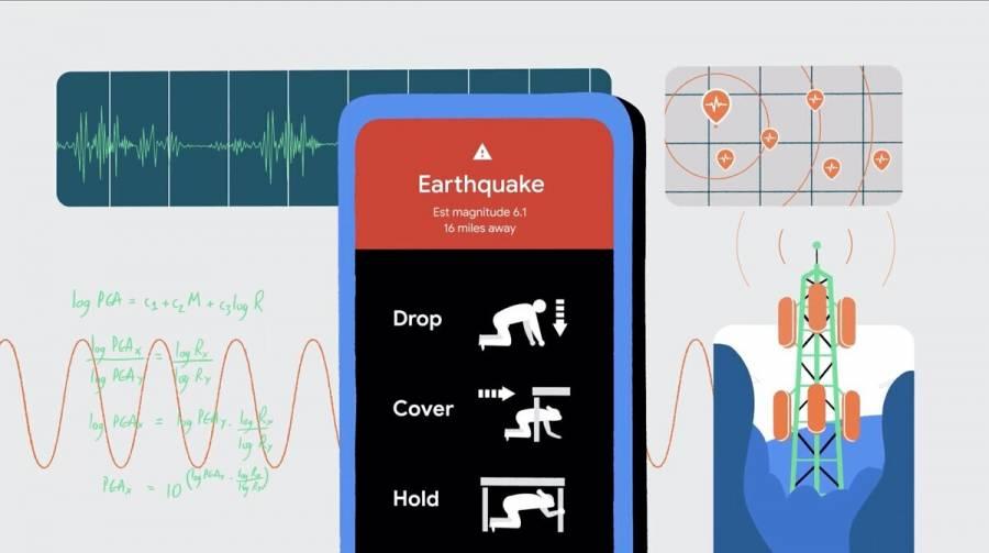 Google anuncia un sistema de detección de sismos basado en teléfonos Android