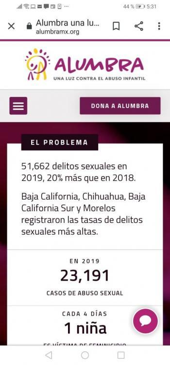 PRESENTAN PÁGINA WEB CON DATOS RELACIONADOS A ABUSO SEXUAL A NIVEL ESTATAL Y NACIONAL