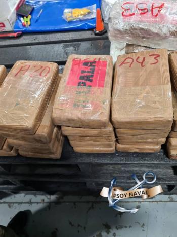Decomisa la Semar 678 kilos de cocaína con destino a Japón
