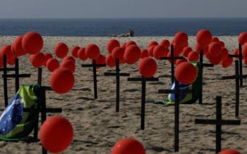 Brasil reporta mil 262 nuevas muertos por el COVID-19