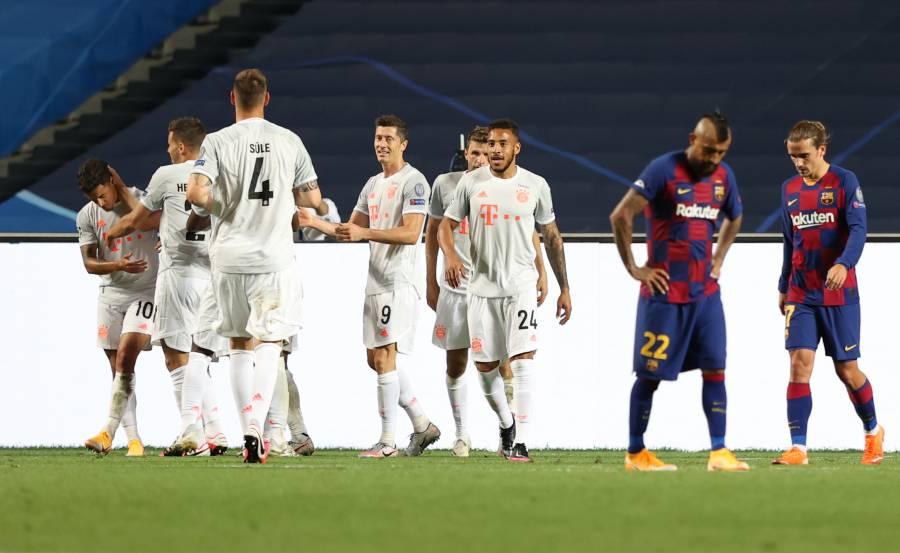 Histórica humillación; Bayern golea 8-2 al Barcelona en Lisboa
