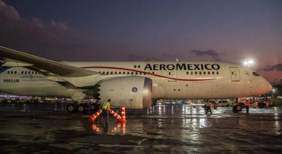 AICM suspende vuelos por fuertes lluvias