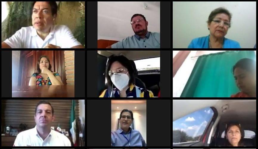 Legisladores de la 4T y Ricardo Peralta analizan en línea agenda legislativa
