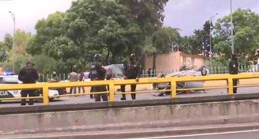 Volcadura en Marina Nacional deja un muerto y una persona herida