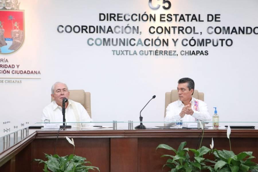 Pone en marcha Escudo Urbano C5 para reforzar acciones de seguridad en Tuxtla Gutiérrez