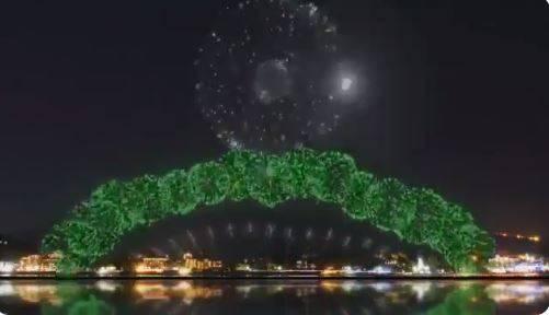 Japón lanza fuegos de artificiales con pirotecnia de los Juegos Olímpicos