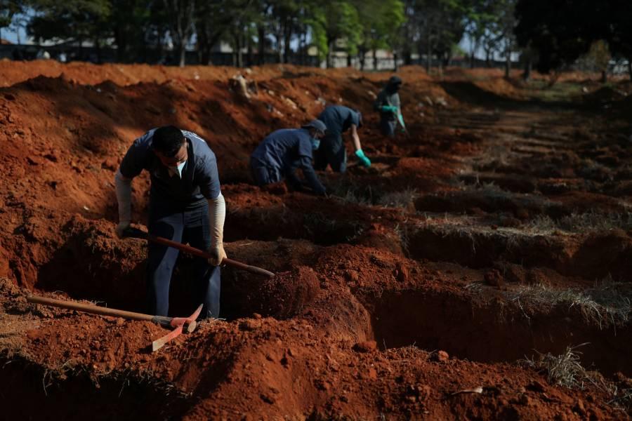 Brasil reporta más de mil 300 muertes por COVID-19