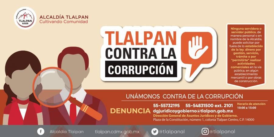 Alcaldía Tlalpan lanza campaña contra la corrupción