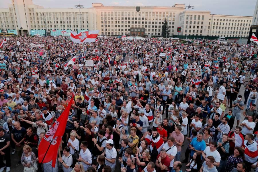 Europa pide a Putin interceder  por diálogo en Bielorrusia