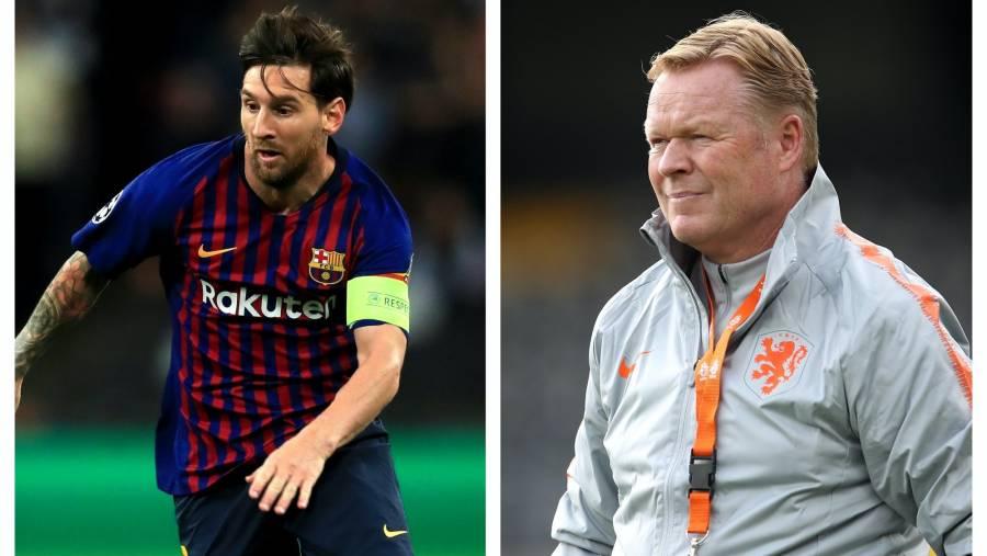 Messi habría expresado a Koeman su intención de dejar el Barcelona, revela prensa catalana