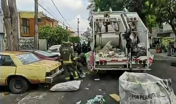 Fallece un trabajador de limpia atropellado en Coyoacán