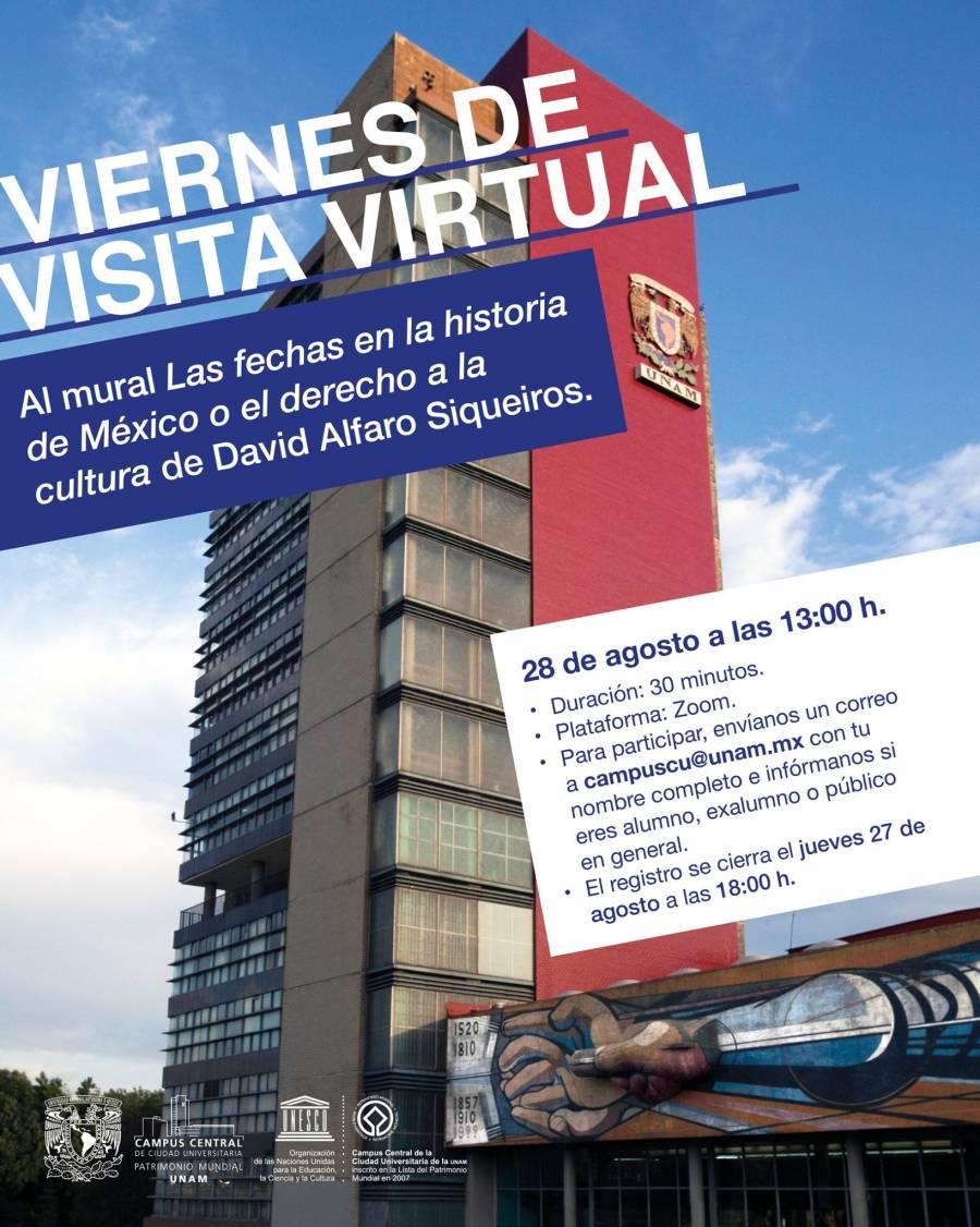 UNAM invita a conocer los murales de CU de manera virtual
