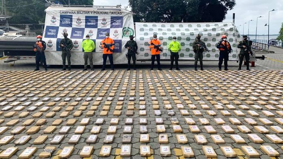 Incautan en Colombia más de una tonelada de cocaína para el CJNG