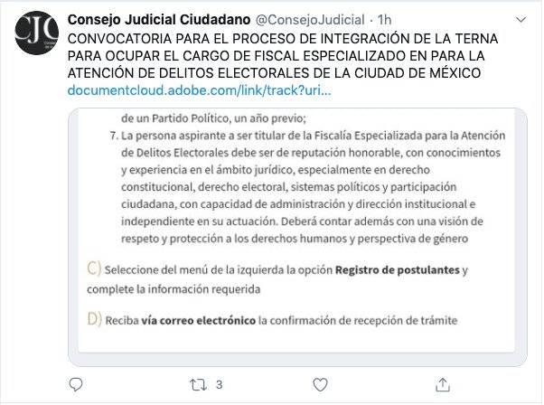 CDMX: Lanzan convocatoria para elegir fiscal electoral