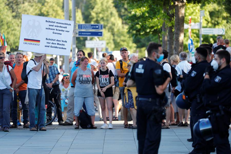 Berlín prohíbe las manifestaciones anti COVID-19