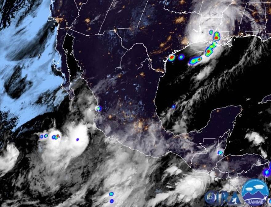 "Prevén lluvias en Jalisco y Colima por tormenta tropical ""Hernán"""