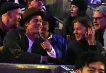 La relación de Brad Pitt y Nicole Poturalsk podría llevar más de 9 meses